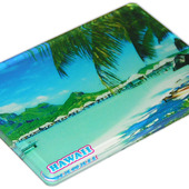 Acrylic magnet tourist souvenir hawaii beach travel gift fridge magnet memo holder free ship